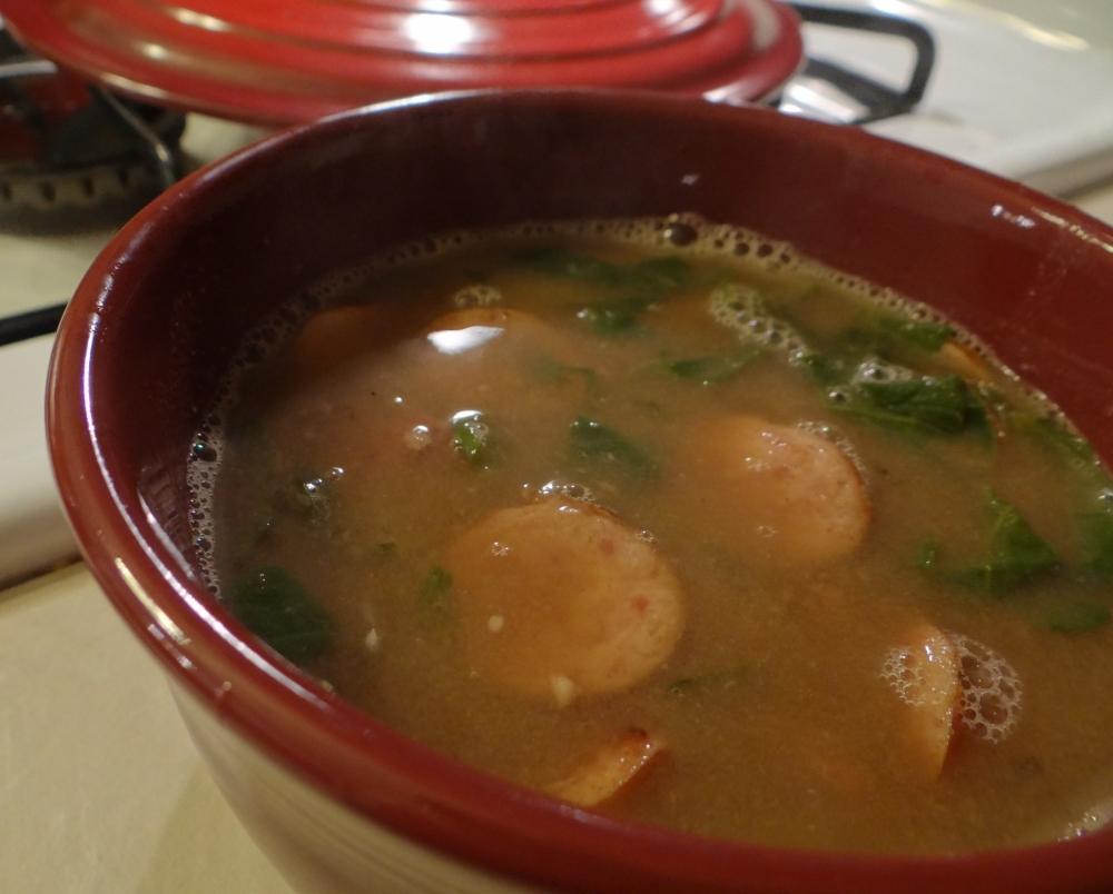 Kielbasa sausage soup