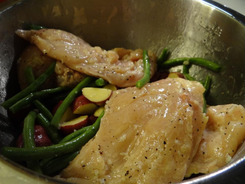 Lemon garlic chicken prep