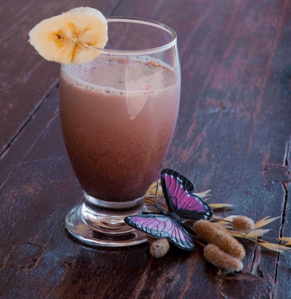 chocolate cherry banana smoothie