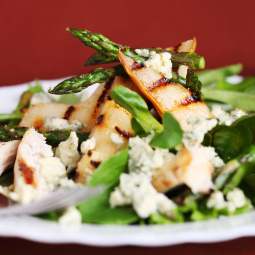 Roasted Asparagus, Pear, and Walnut Salad