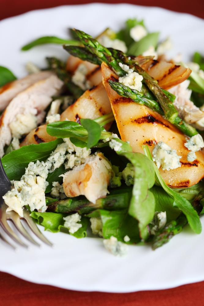 Asparagus pear salad