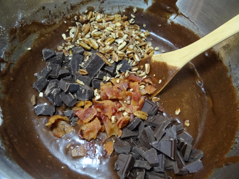 Bacon brownie mix