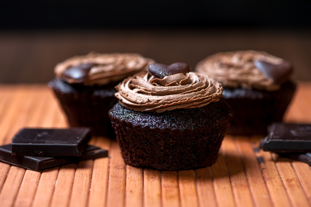 Chocolate Cupcakes With Hazelnut Frosting