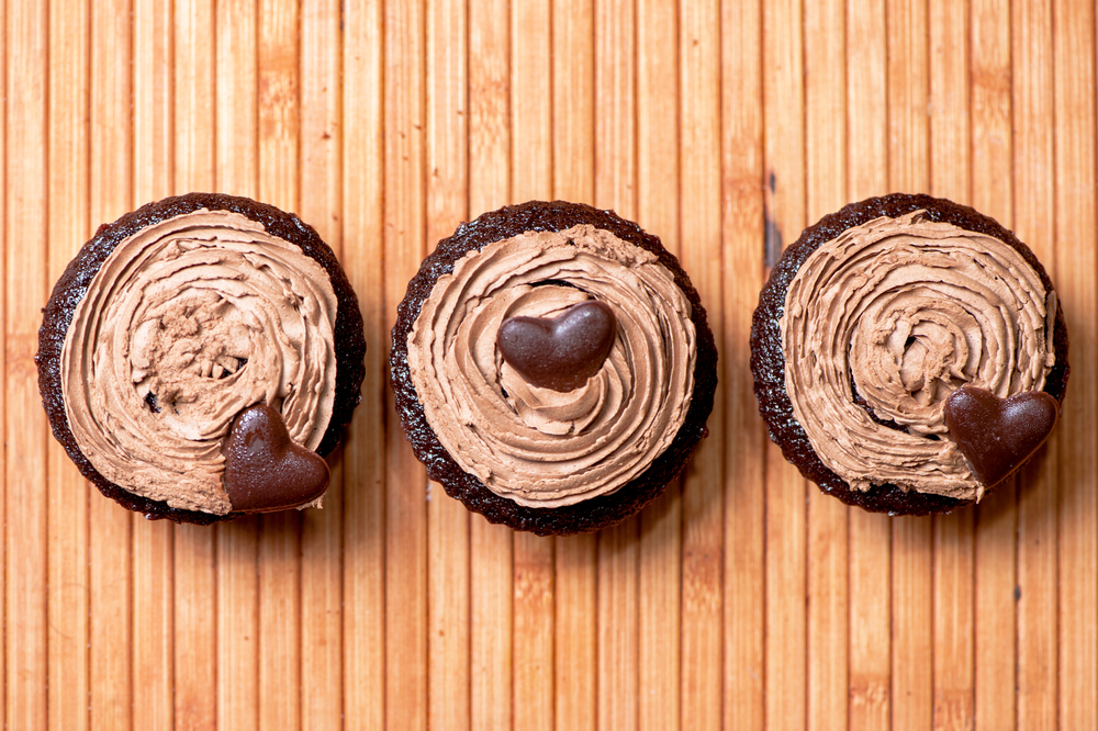 Rich Chocolate Cupcakes With Hazelnut Recipes — Dishmaps