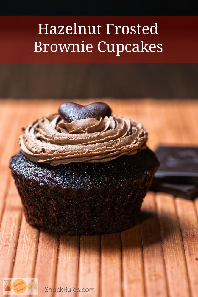Hazelnut Frosted Brownie Chocolate Cupcake