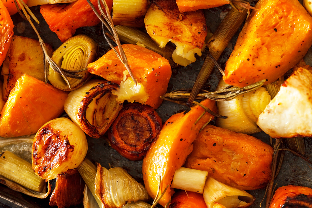 Herb Roasted Winter Vegetables