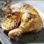 Lemon roasted chicken legs recipe