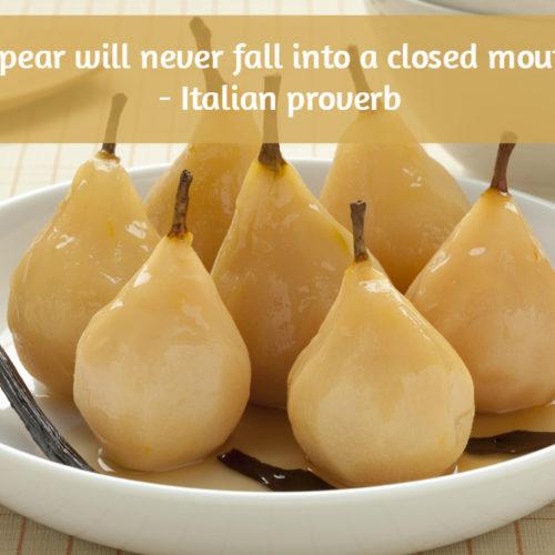 Pear Proverb
