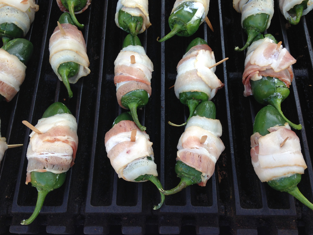 grilled jalapenos with bacon