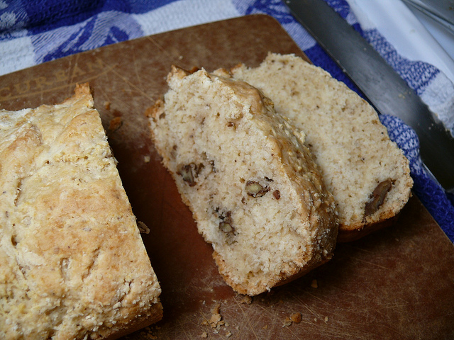 walnut ice cream bread