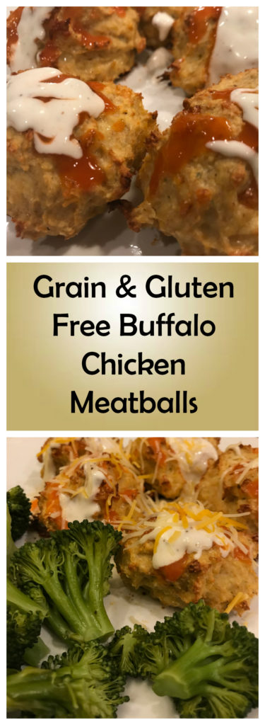 Grain and Gluten Free Buffalo Chicken Meatballs