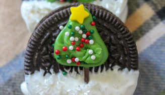 Christmas Tree Decorated Oreo Cookies