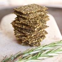 Kale Rosemary Super Seed Crackers