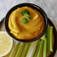 Beanless Carrot Turmeric Hummus {Paleo, Whole30}