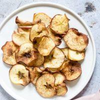 Air Fryer Apple Chips + Tutorial {Gluten-Free, Low Carb, Paleo, Whole 30, Vegan}