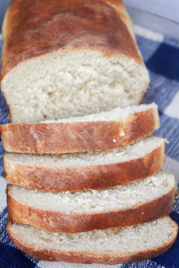 sliced white country bread