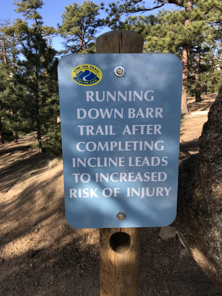 running down barr trail